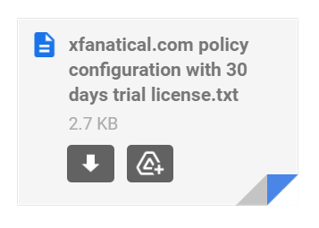 Safe Doc Trial License Policy Configuration Email Attachment