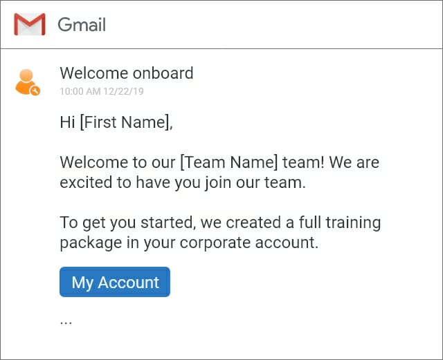custom welcome email for new users