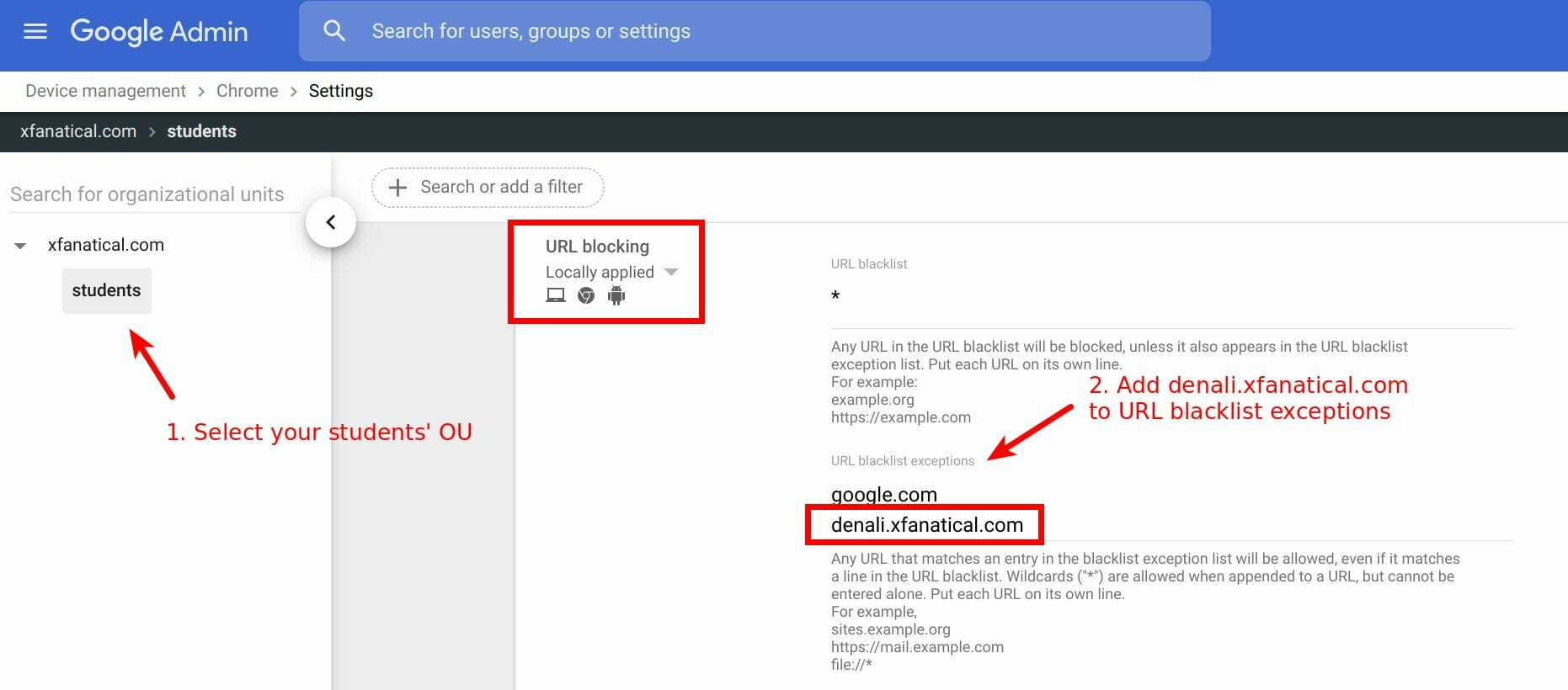 Whitelist our license server in your chrome policy