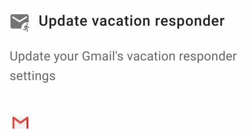 Update vacation responder action in Foresight