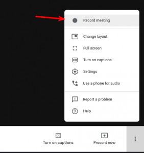 Featured image recording meeting in Google Meet