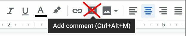 Comment button in toolbar of editors removed