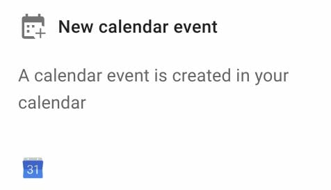 New calendar event trigger in Foresight