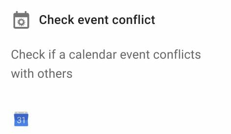 Check event conflict action in Foresight