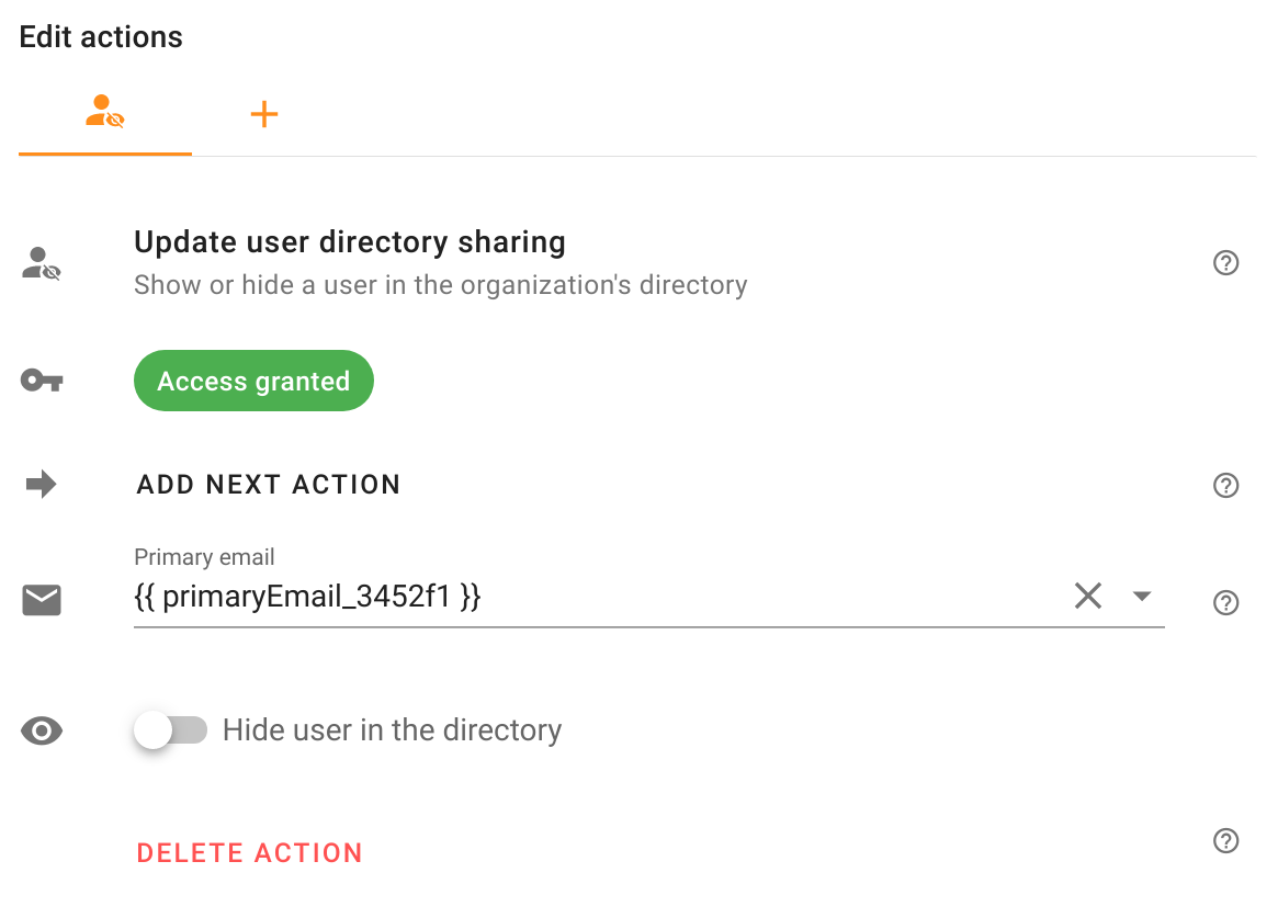 Update user directory sharing action in Foresight