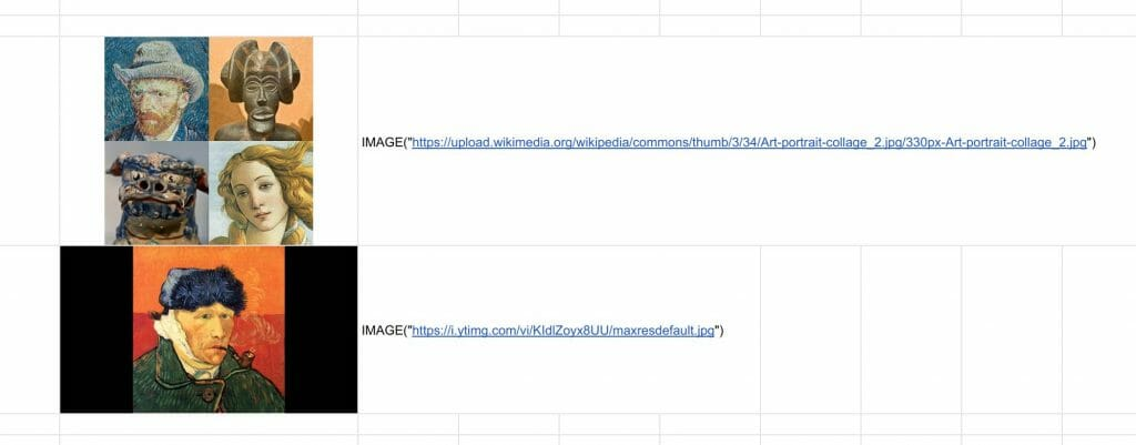 The IMAGE function allows students to insert web images by URLs
