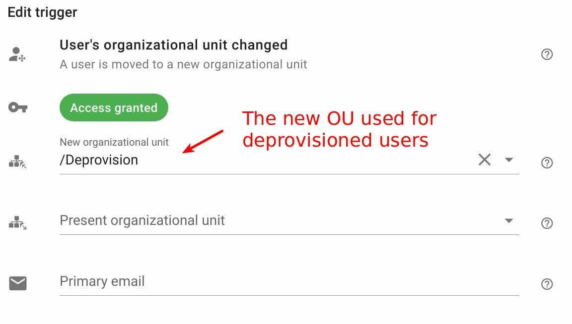 edit user's organizational unit changed trigger