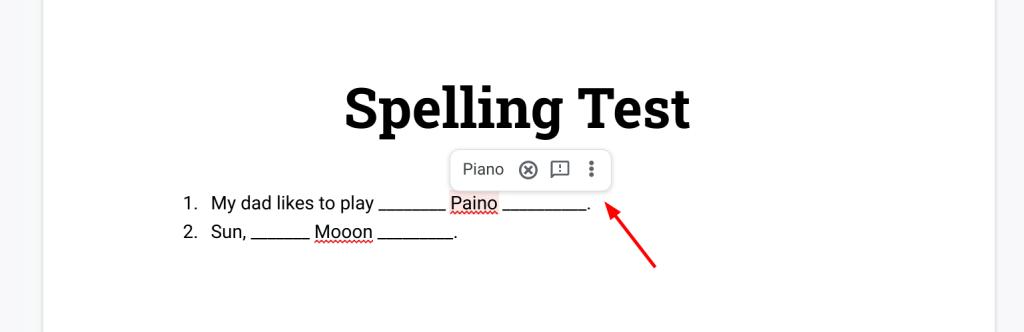 Google Docs's spelling correction ruins online testing