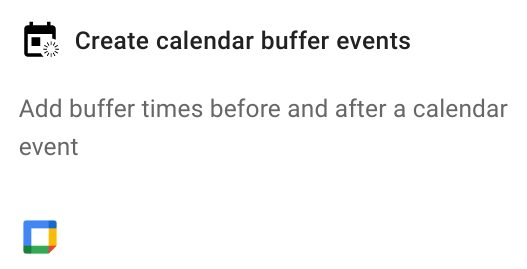 Create calendar buffer events action in Foresight