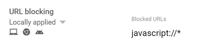 Block bookmarklet in Google Admin