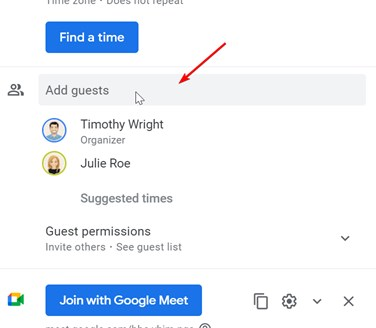 Adding Guests in Google Calendar Events could be tedious and stumble
